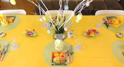 イースターの食卓 雛祭りの食卓