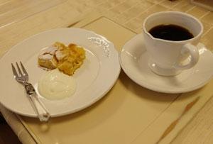 簡単アップルケーキとコーヒー